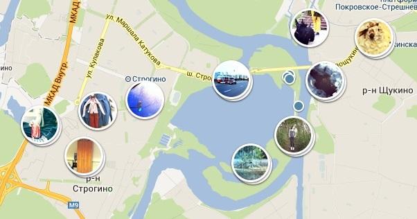 Реализация выборки, кэширования и отрисовки фотографий на карте