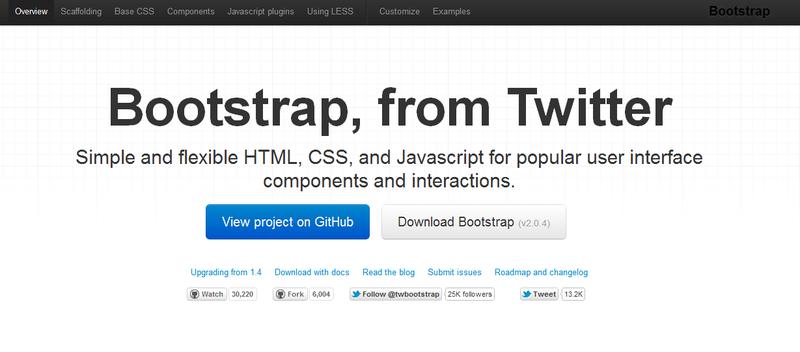 Релиз новой версии Twitter Bootstrap 2.0.4
