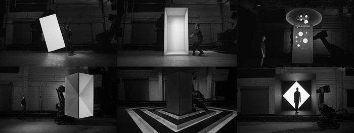 Роботы, проекторы, обработка изображений: видео «Box»