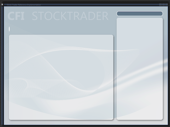 Главное окно Stock Trader RI в Expression Blend.