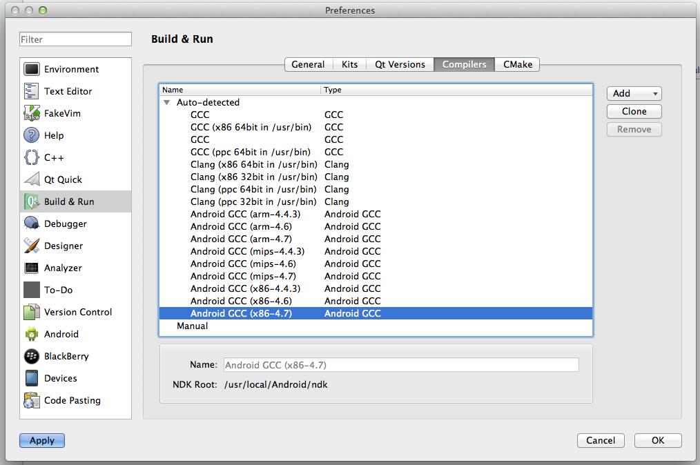 Сборка Qt 5.1 приложений под Android на Mac, seriously?