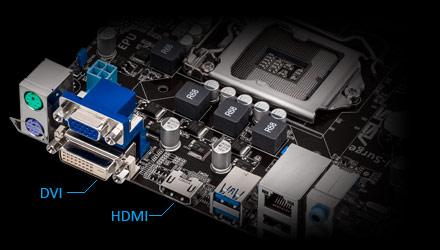 Видеовыходы HDMI и DVI