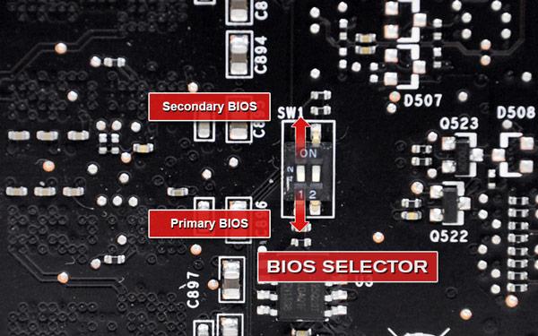 Перед выбором BIOS на 3D-карте EVGA необходимо выключить ПК
