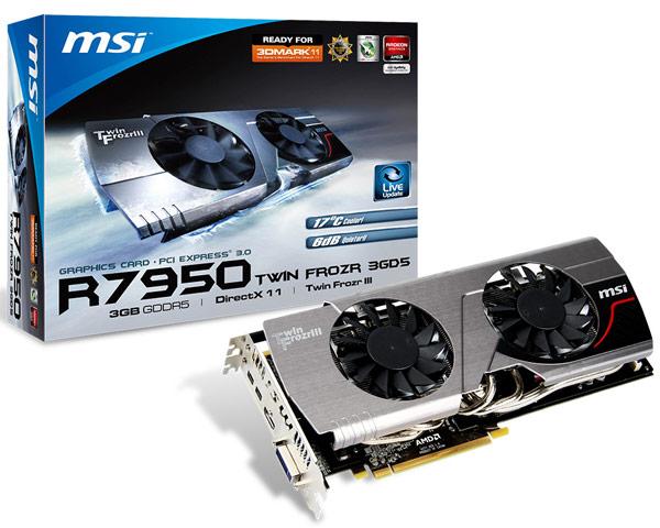 Ожидается, что 3D-карта MSI R7950 Twin Frozr Boost Edition будет стоить $330
