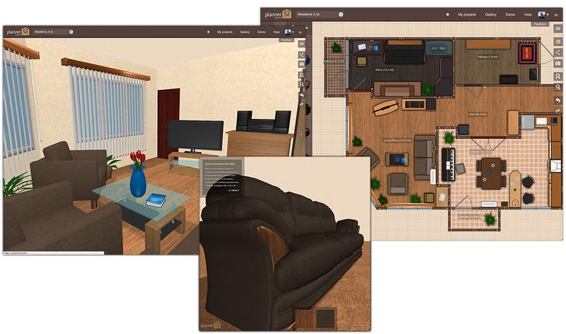 Сервис для создания планировок помещений и интерьеров