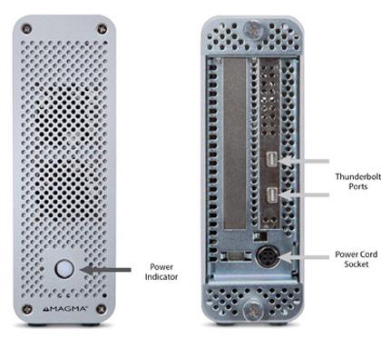 Наличие двух портов Thunderbolt позволяет включать ExpressBox 1T в цепочку