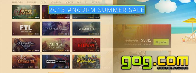 Шопоголикам мимо! — или «2013 NoDRM SUMMER SALE», летняя распродажа игр на сервисе GOG.com