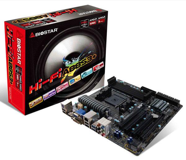 Оснащение платы Biostar Hi-Fi A88S3+ включает восемь портов SATA 6 Гбит/с