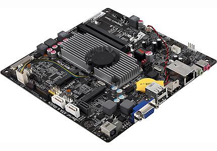 Системная плата ECS NM70-TI выполнена в типоразмере Thin Mini-ITX
