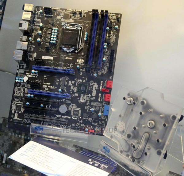 Водоблок Sapphire Atomic Z97 обеспечивает отвод тепла от процессора и шести мощных регуляторов напряжения