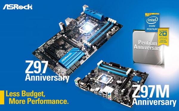Общей чертой плат ASRock Z97 Anniversary и Z97M Anniversary является функция Pentium Anniversary Boost