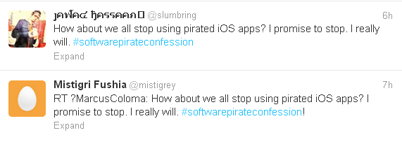 Словарь для iOS публикует антипиратские сообщения в твиттер от имени пользователей