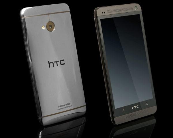 Смартфон HTC One покрыли чистым золотом