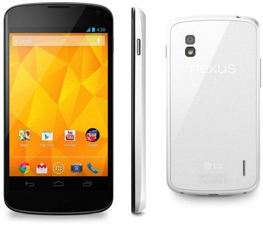 Продажи смартфонов LG Nexus 4 белого цвета стартуют завтра