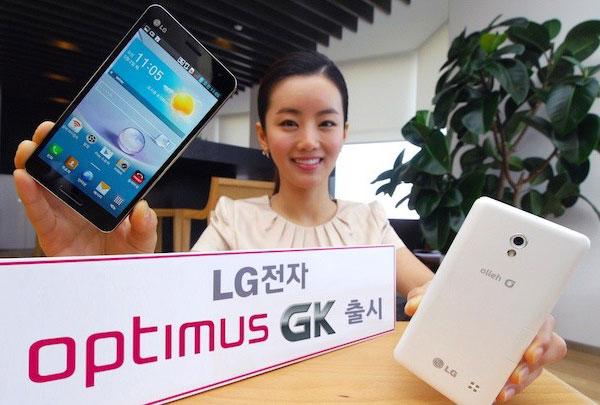 Смартфон LG Optimus GK оснащен пятидюймовым экраном