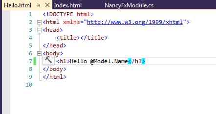 Создаем первое приложение на NancyFX