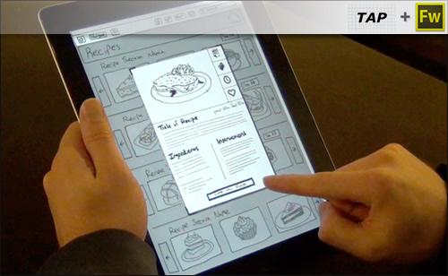 Создание интерактивного прототипа с Fireworks и TAP (touch application prototyping)