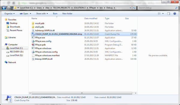 Создание минидампов в проектах на C# 4.0, разрабатываемых в VS 2010