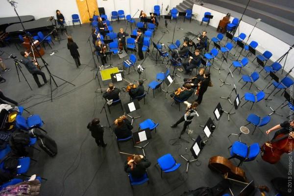 Музыканты готовятся к записи