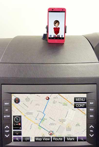 Прототип голосового навигатора, созданного Fujitsu Ten, будет показан на MWC 2014