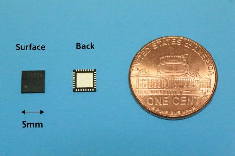 Микросхема Panasonic включает все цепи, необходимые для работы в диапазонах частот 400 МГц, 900 МГц, 1,2 ГГц и 2,4 ГГц