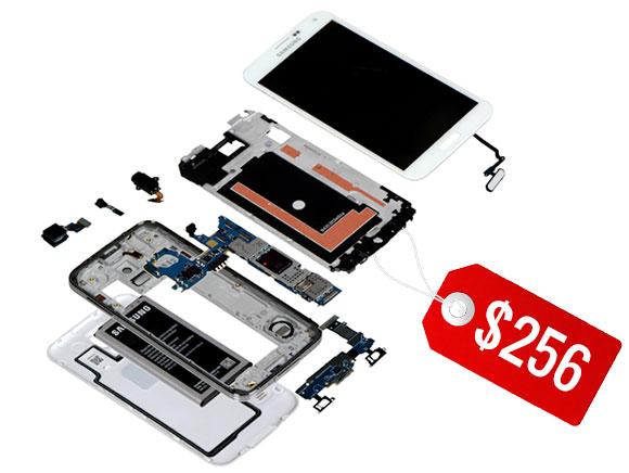 Самая дорогая деталь смартфона Samsung Galaxy S5 — экран Full HD типа Super AMOLED