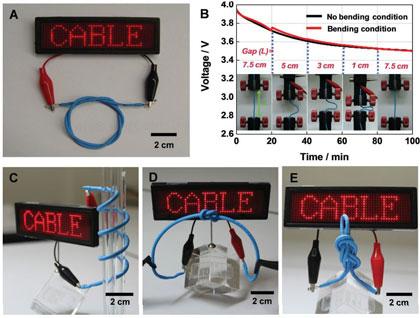 Специалисты LG Chem создали гибкие батареи в виде кабелей