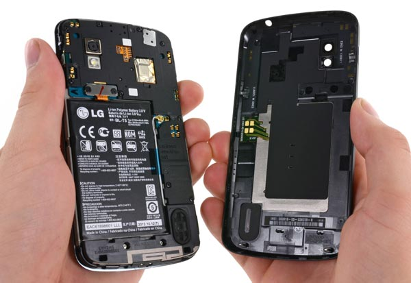Специалисты iFixit разобрали смартфон Google Nexus 4