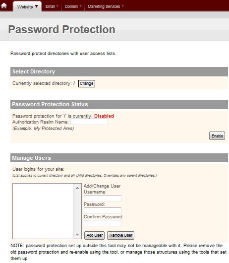 Настройка доступа к папкам на сайте по паролю в vDeck