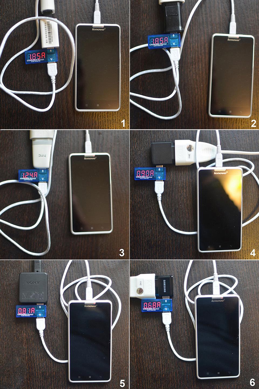 Сравнительный тест зарядных устройств на 5В и кабелей microUSB