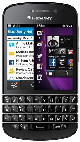 Смартфон BlackBerry Q10 построен на двухъядерном процессоре Snapdragon S4 Plus