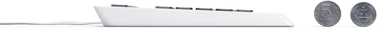 Демонстрируют толщину клавиатуры