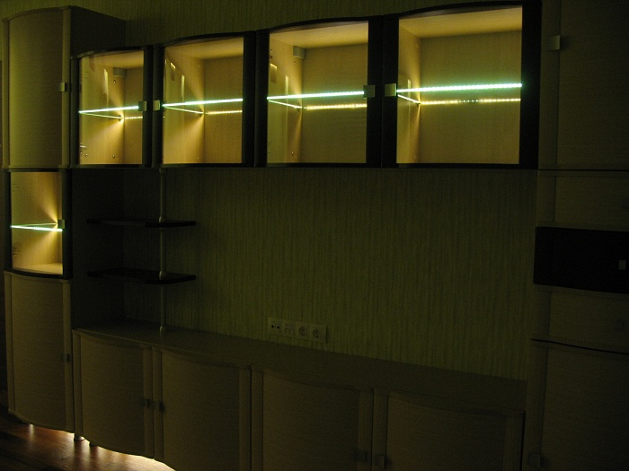 Светодиодная лента в качестве освещения комнаты