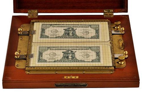 Техника для проверки подлинности денег