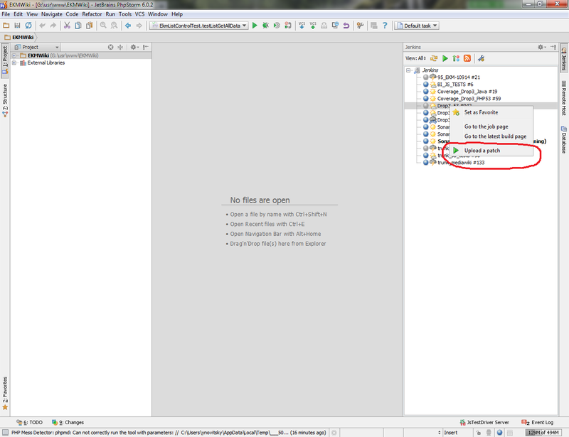 Тестирование кода перед коммитом с помощью Jenkins и IDE от Jetbrains (IDEA, PhpStorm...)