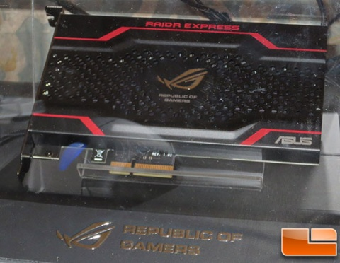 Твердотельный накопитель ASUS ROG RAIDR Express оснащен интерфейсом PCI-Express 2.0 x4