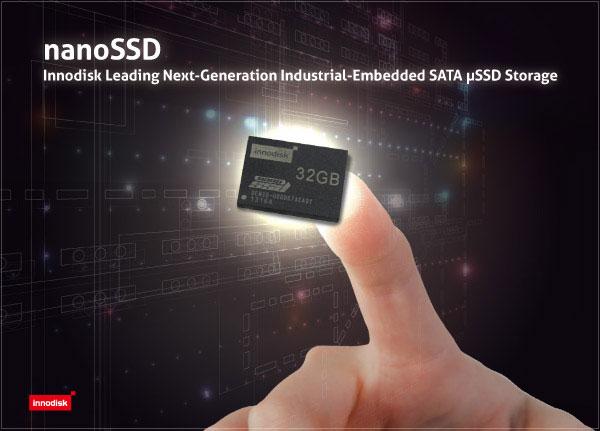 Innodisk называет nanoSSD первым в мире твердотельным накопителем стандарта µSSD для промышленных встраиваемых систем