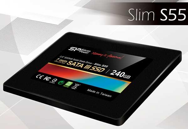 Твердотельные накопители Silicon Power Slim S55 выпускаются объемом от 32 до 480 ГБ