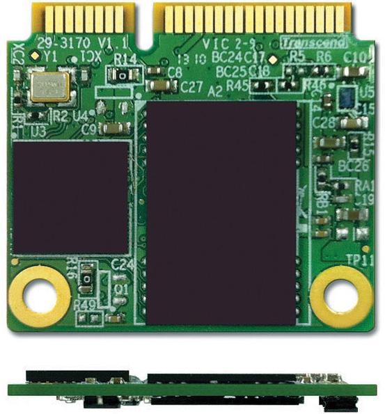 Размеры Transcend MSM610 mSATA — 26,8 x 29,85 x 3,85 мм