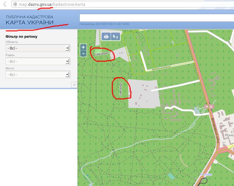 Украинский земельный кадастр использует OSM в качестве карты по умолчанию