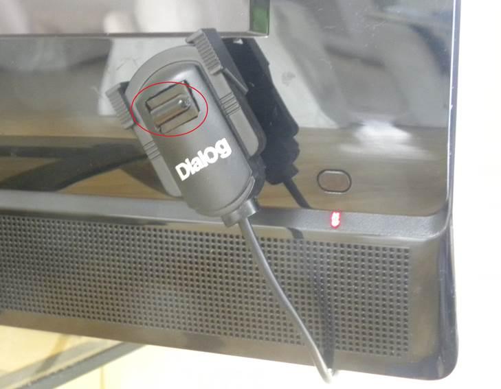 Переделанное устройство на телевизоре