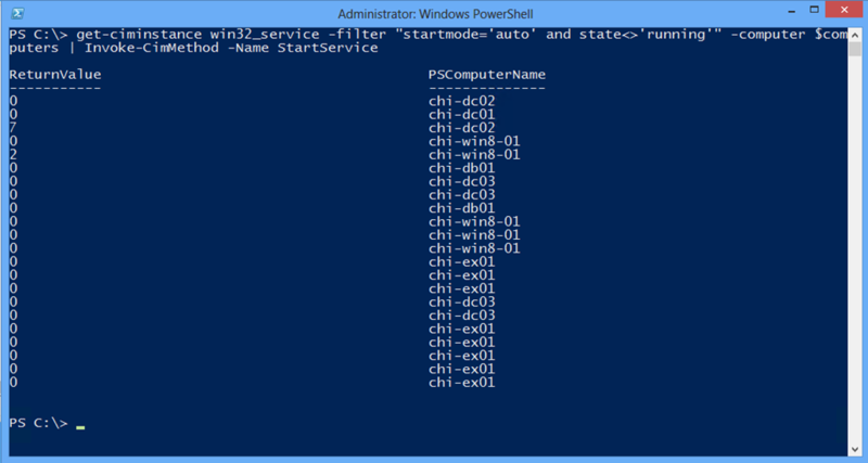Управляем службами Windows с помощью PowerShell. Часть 5. CIM командлеты