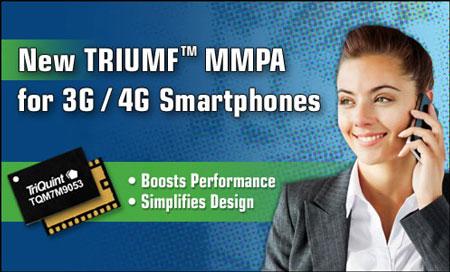 Многодиапазонный усилитель мощности TriQuint TQM7M9053 характеризуется повышенной эффективностью