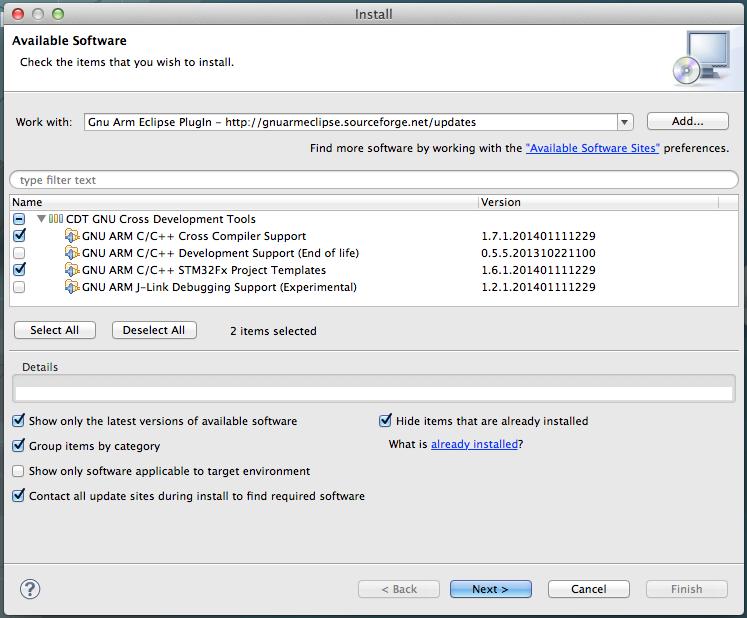 Установка ST LINK V2 в MAC OS X для разработки под STM32