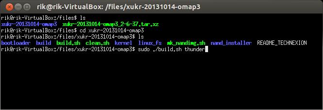 Установка и сборка образа Angstrom Linux для платы TechNexion Thunder