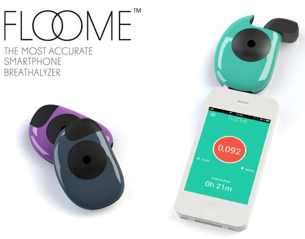 Устройство Floome превращает смартфон в алкотестер