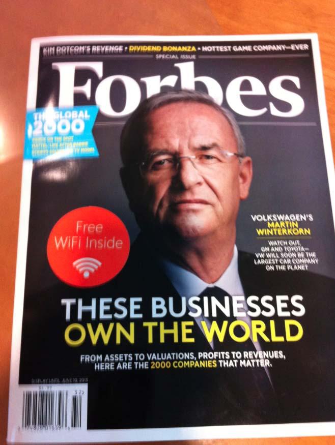 В американский спецвыпуск журнала Forbes встроили точку доступа