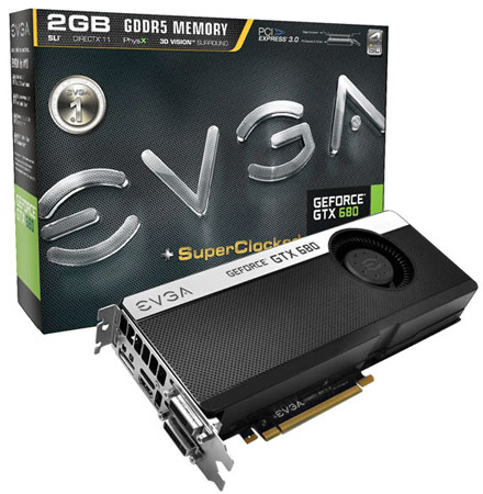 В каталоге EVGA появились 3D-карты GeForce GTX 680 SC Signature и Signature+