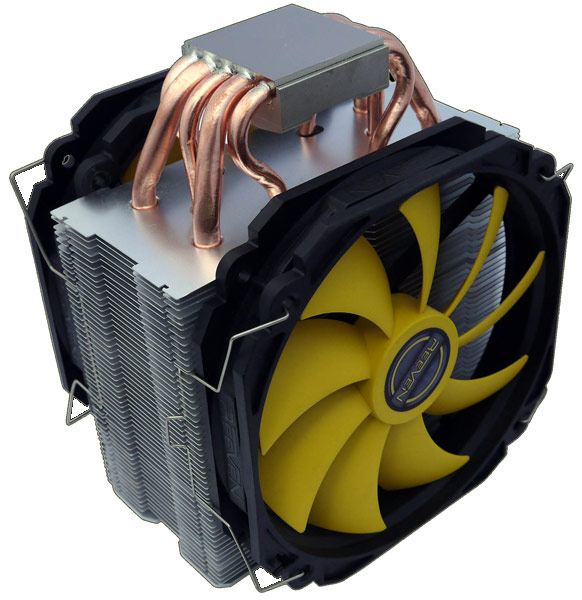 Скорость вращения комплектного вентилятора Reeven RC-1401 регулируется c помощью ШИМ в диапазоне 300-1300 об/мин
