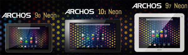 В серии Android-планшетов Archos Neon — три представителя